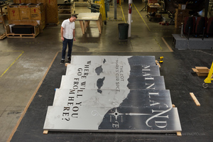 CHARTING A COURSE KINETIC MURAL FABRICATION