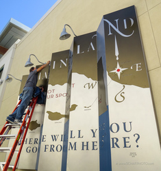 CHARTING A COURSE KINETIC MURAL INSTALL
