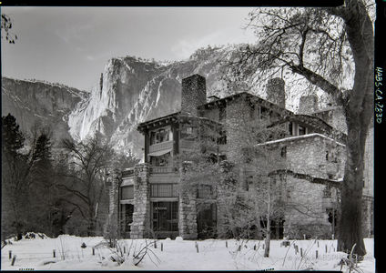 Ahwahnee Hotel HABS with Yosemite Falls