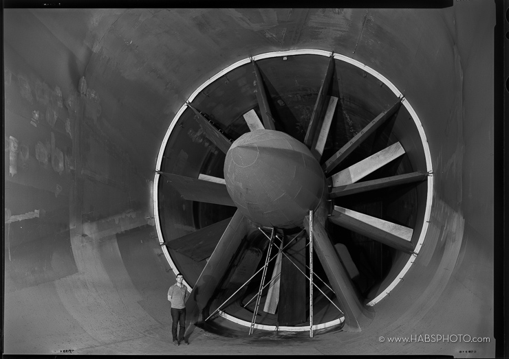 HAER photograph of 7'x10' wind tunnel at NASA Ames, Mountain View, California