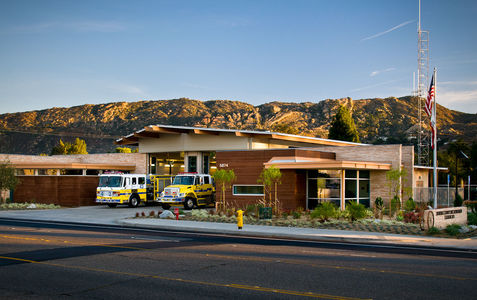 VC FIRE STATION 43 AT SUNSET