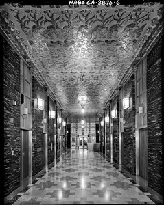 PACIFIC TELEPHONE BUILDING ELEVATOR LOBBY • HABS